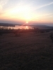 Beautiful sunset overlooking Žehun lake